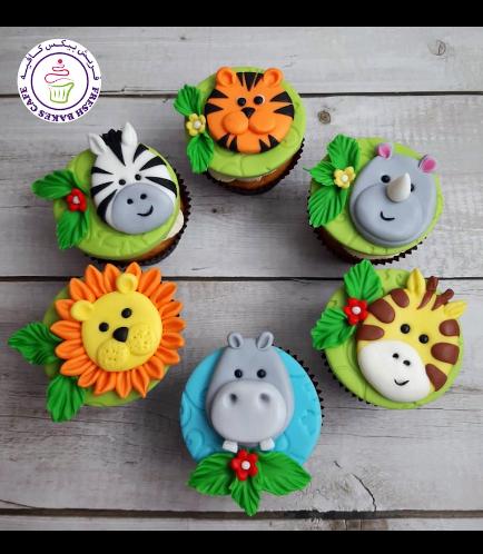 Animals Themed Cupcakes - Jungle Animals 08