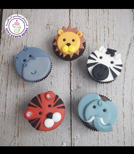 Animals Themed Cupcakes - Jungle Animals 10