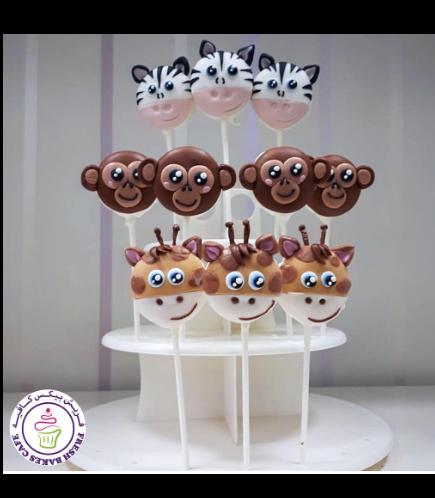 Animals Themed Donut Pops - Jungle Animals 01