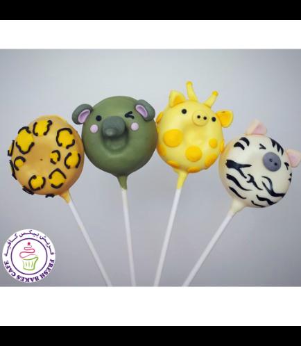 Animals Themed Donut Pops - Jungle Animals 02