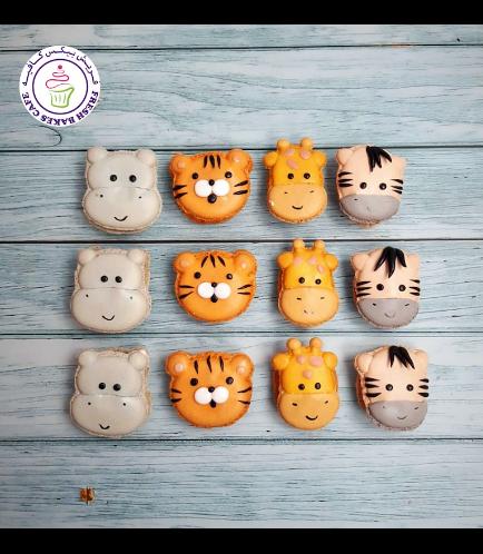 Animals Themed Macarons - Jungle Animals