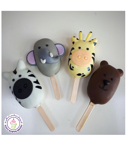 Animals Themed Popsicakes - Jungle Animals 01