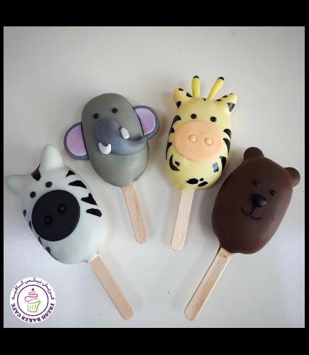 Animals Themed Popsicakes - Jungle Animals