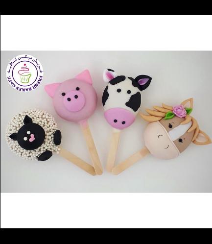 Animals Themed Popsicakes - Farm Animals