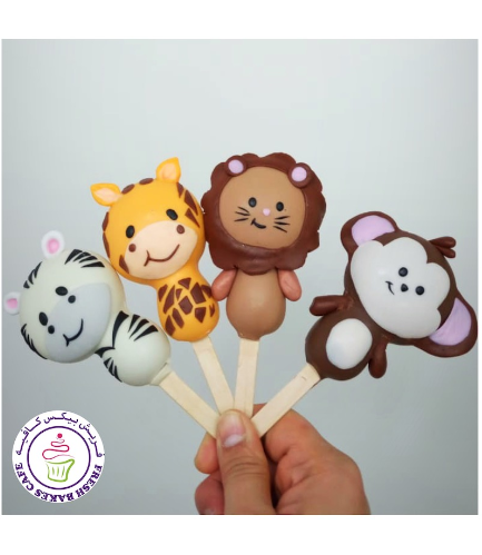 Animals Themed Popsicakes - Jungle Animals 03