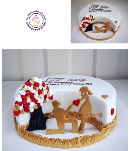 Cake - Man & Woman Silhouettes 01