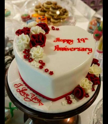 Cake - Heart Cake - Flowers 01
