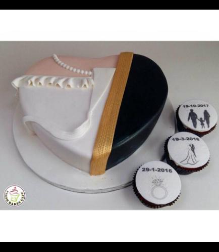 Wedding Anniversary Themed Cake