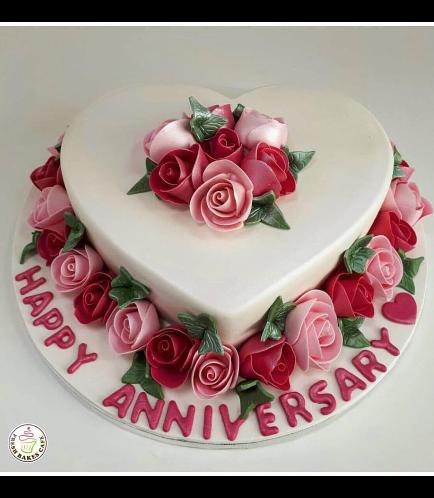 Cake - Heart Cake - Roses