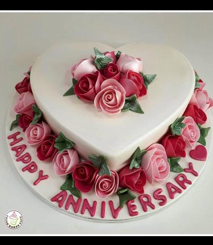 Cake - Heart Cake - Roses 02