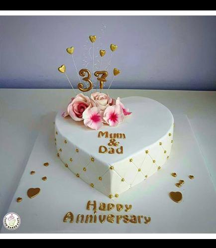 Cake - Heart Cake - Flowers 02a
