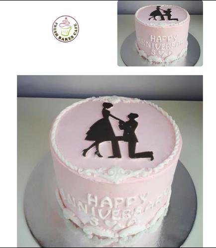 Cake - Man & Woman Silhouettes 02