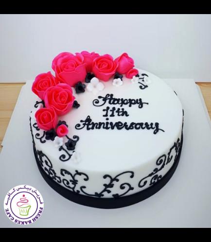 Cake - Flowers - 1 Tier 14
