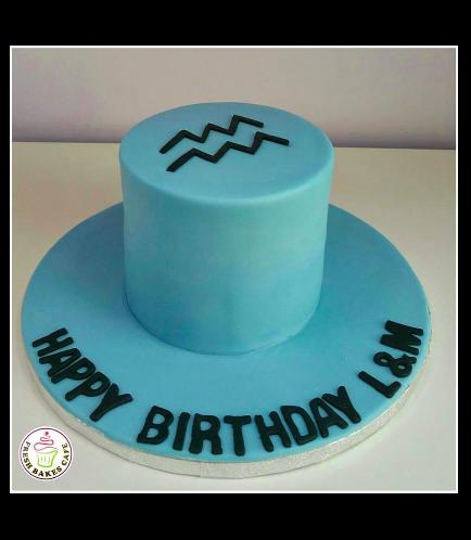 Aquarius Sign Themed Cake