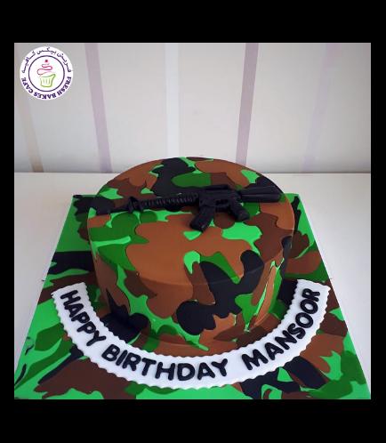 Army Camo Themed Cake 05