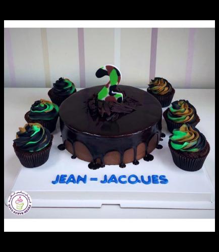Cake - Army Camo Cake & Cupcakes