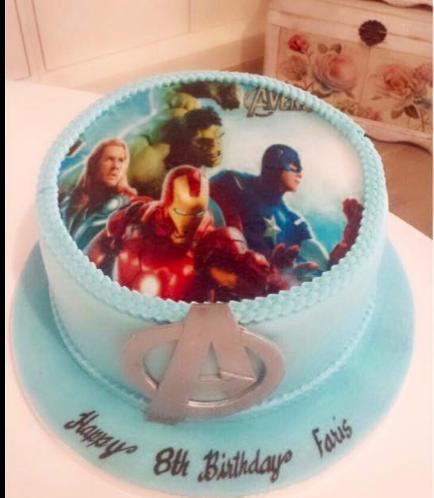 Avengers Themed Cake 01