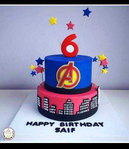 Avengers Themed Cake 03