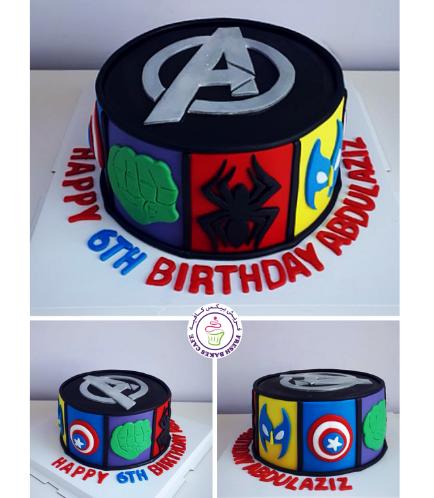 Avengers Themed Cake 04