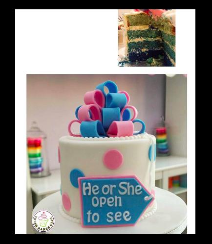 Baby Gender Reveal Themed Cake 01