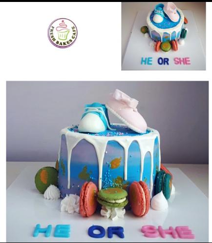 Baby Gender Reveal Themed Cake 10