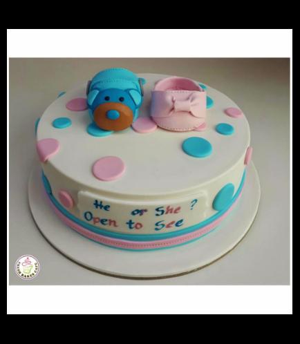 Baby Gender Reveal Themed Cake 04