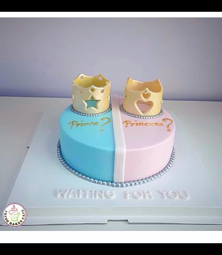 Baby Gender Reveal Themed Cake 06