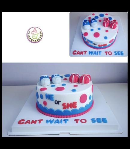 Baby Gender Reveal Themed Cake 09
