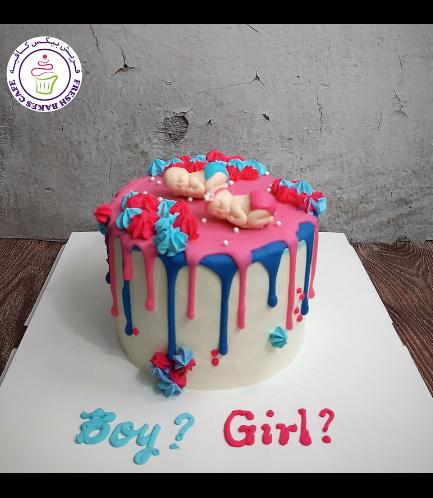 Cake - Baby Gender Reveal - Babies