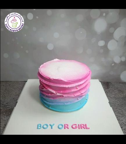 Cream Cake - Baby Gender Reveal