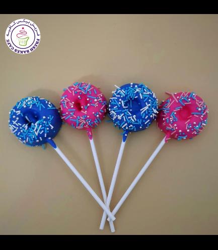 Baby Gender Reveal Themed Donut Pops