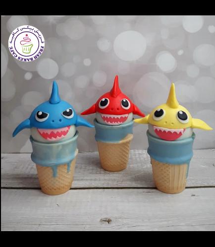 Baby Shark Themed Cone Cake Pops