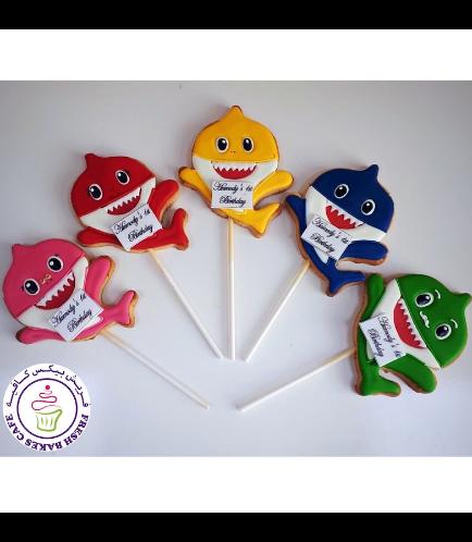Baby Shark Themed Cookies