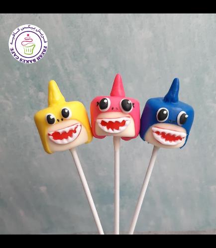 Baby Shark Themed Marshmallow Pops