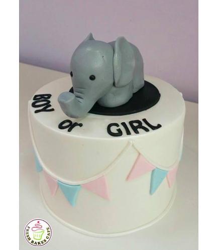 Cake - Elephant - 3D Cake Topper