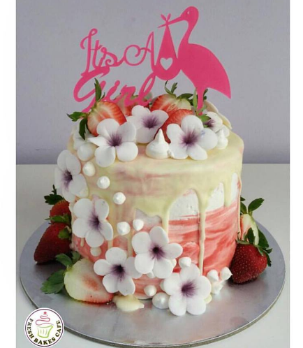 Cake - Flowers & Strawberries