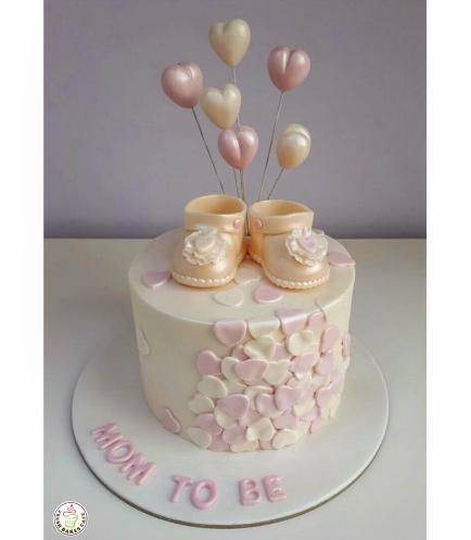 Cake - Baby Shower - Baby Booties - Girl 02