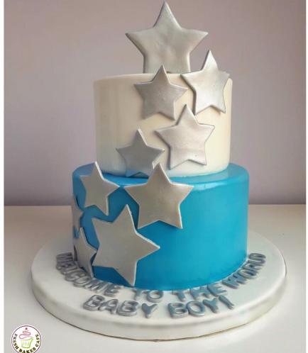 Cake - Baby Shower - Stars