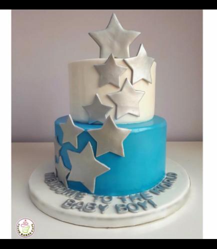 Cake - Stars - 2D Star Cake Topper 01
