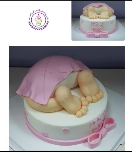 Cake - Baby Shower - Baby Bum - Pink 01