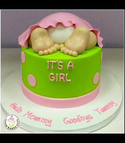 Baby Shower Themed Cake 9d