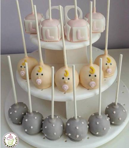 Baby Shower Themed Cake Pops 9