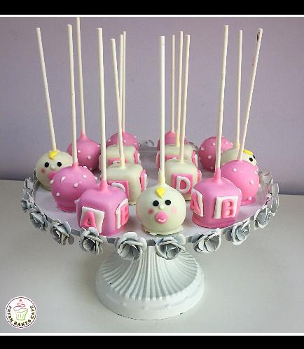 Cake Pops - Baby Shower - Girl 01