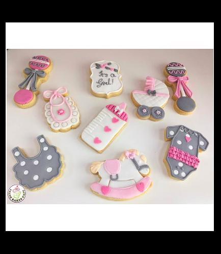 Cookies - Baby Shower - Girl 01