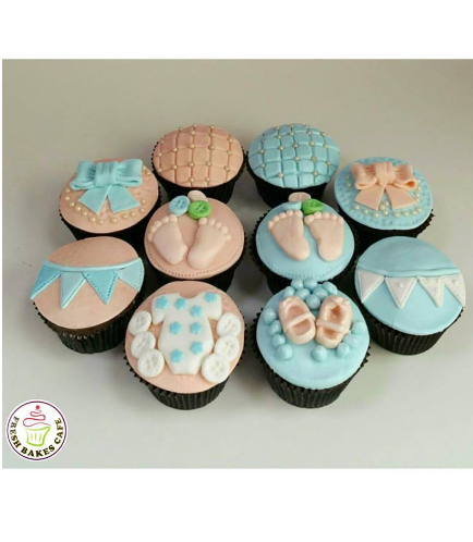 Baby Shower Themed Cupcakes 12