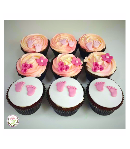Baby's First Step Themed Cupcakes 01