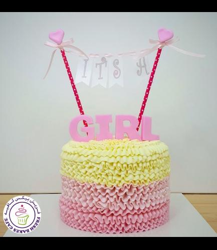 Cream Cake - Pink - Banner - Baby Shower