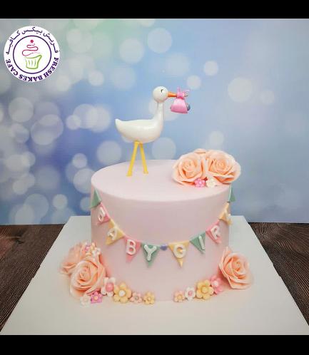 Cake - Baby Shower - Stork
