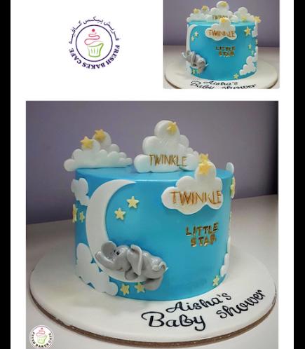 Cake - Baby Shower - Twinkle Little Star 01