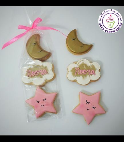 Cookies - Baby Shower - Crescent & Star